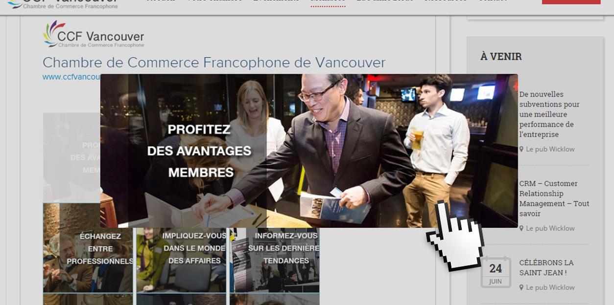 La chambre de commerce francophone de vancouver nouveau for Chambre de commerce vancouver